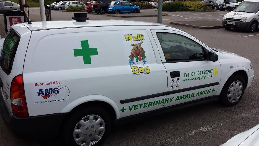 Thanks to AMS for their kind donation of a Wellidog Van