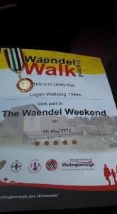 Logan does the Waendel Walk