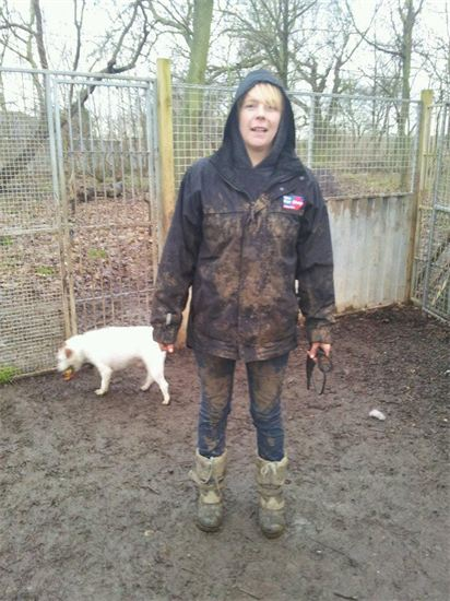 Naomi our Kennel Manager demonstrating the importance of appropriate clothing