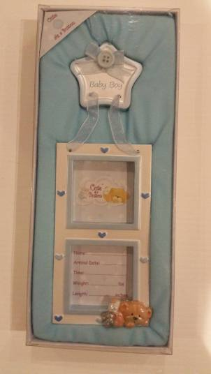 Baby Boy Picture Frame. Starting Bid- £1